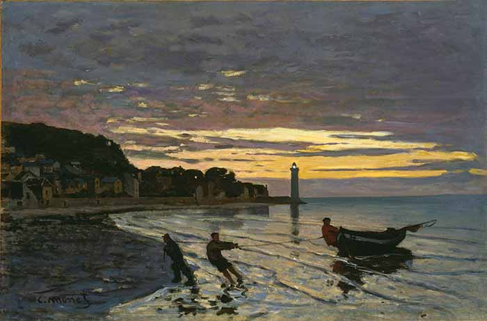 Claude Monet, Towing Of a Boat in Honfleur, 1864