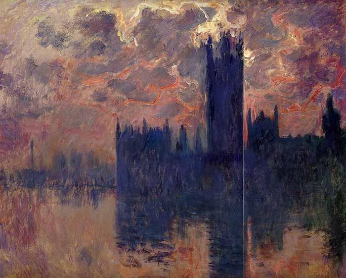 Claude Monet, Westminster Palace, Sunset, 1900