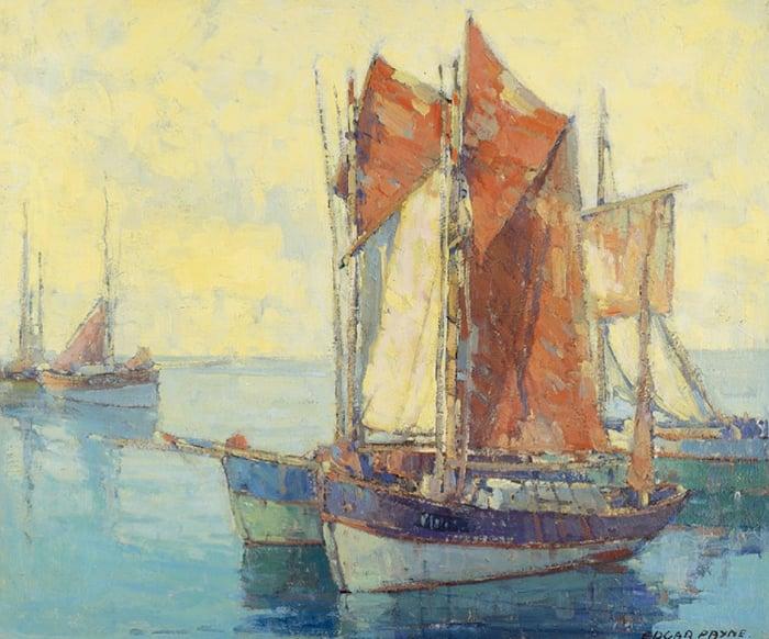 Edgar Payne, Boats in a Harbor