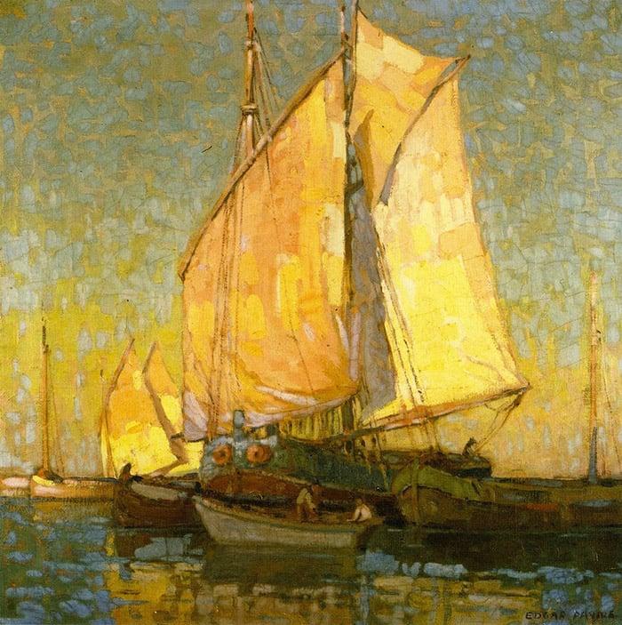 Edgar Payne, Drying Sails, Chioggia, Italy