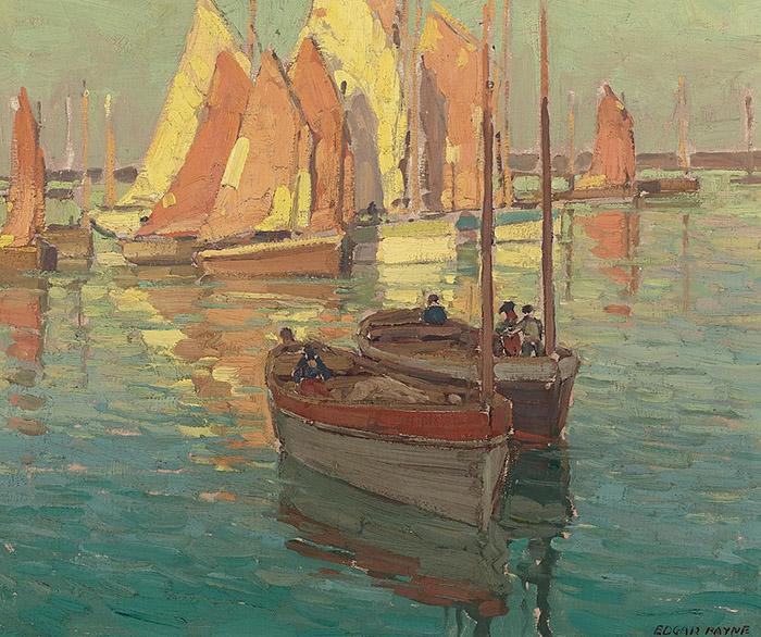 Edgar Payne, Fishing Boats in a Harbor