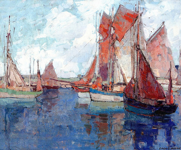 Edgar Payne, French Tuna Boats, Concarneau, France