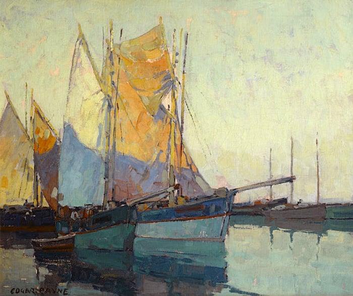 Edgar Payne, Sail Boats at Anchor