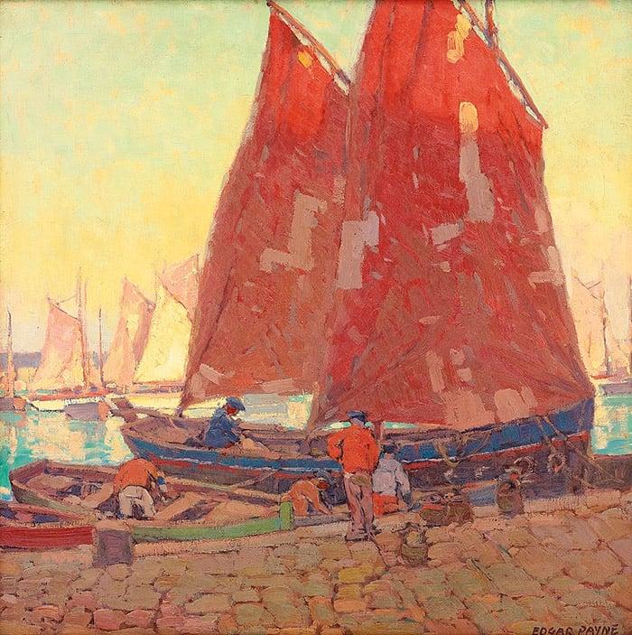 Edgar Payne, Sardine Boats at Douarnenez