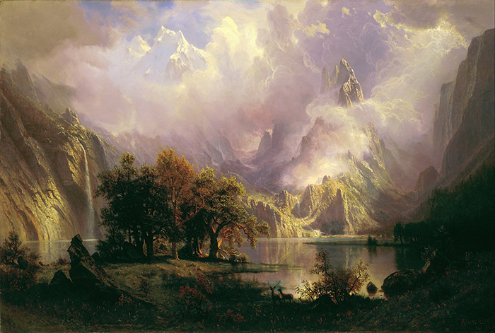 Albert Bierstadt, Rocky Mountain Landscape, 1870