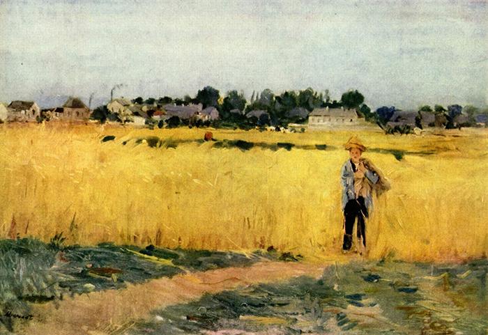 Berthe Morisot, Grain field, c. 1875