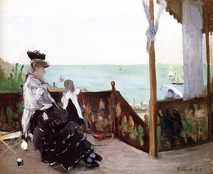 Berthe Morisot, In a Villa at the Seaside, 1874