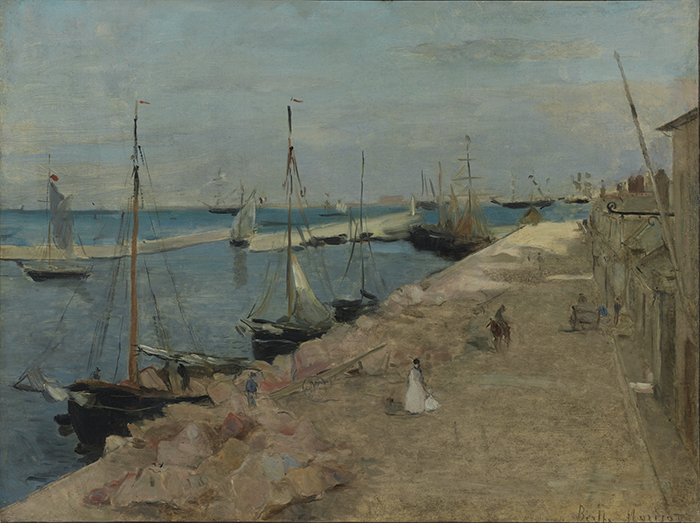 Berthe Morisot, The Harbor at Cherbourg, 1871