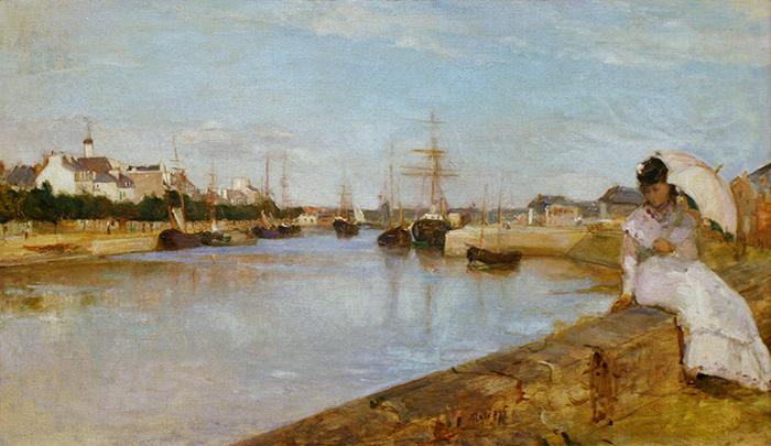 Berthe Morisot, The Harbor at Lorient, 1869