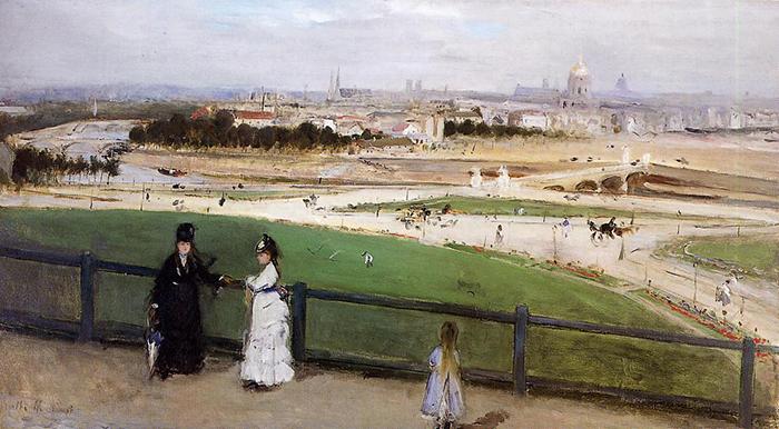 Berthe Morisot, View of Paris from the Trocadero, c. 1871