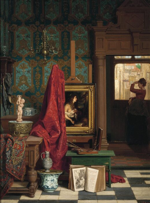 Charles Joseph Grips, Waiting for a Loved One, 1894
