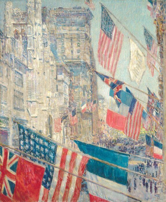 Childe Hassam, Allies Day, 1918