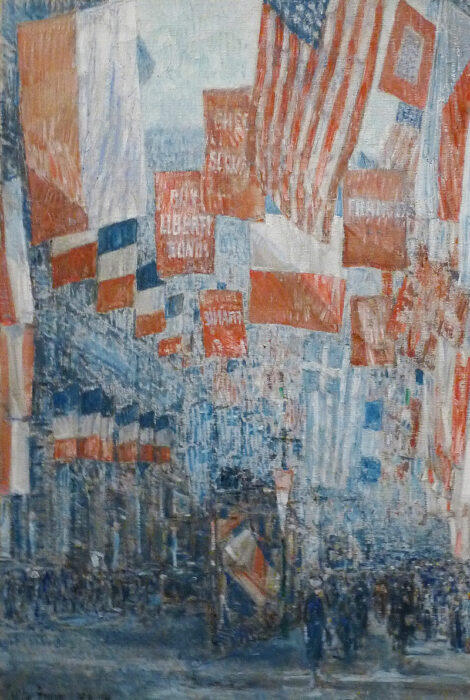 Childe Hassam, Avenue of the Allies, 1917