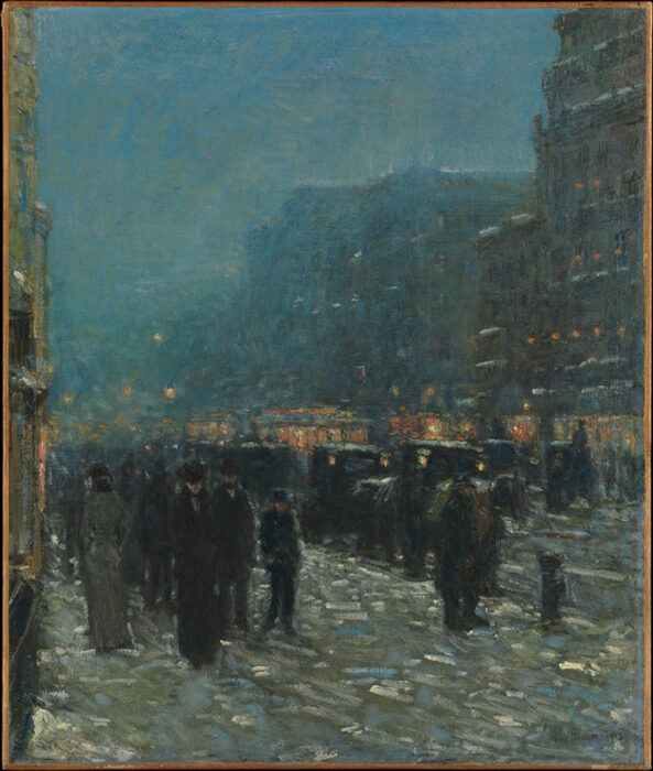 Childe Hassam, Broadway and 42nd Street, 1902