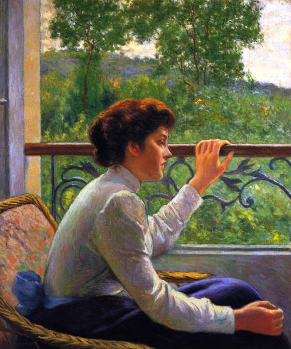 Federico Zandomeneghi, Waiting, c.1918