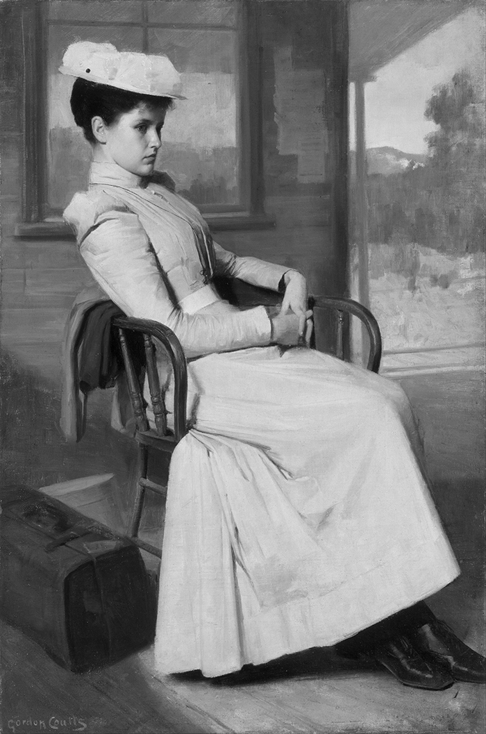 Gordon Coutts, Waiting, 1896 (Grayscale)