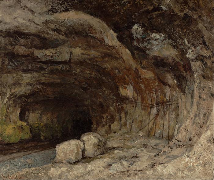 Gustave Courbet, Grotto of Sarrazine Near Nans-sous-Sainte-Anne, 1864