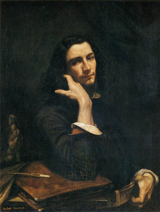 Gustave Courbet, Self-Portrait (Man with Leather Belt), c.1845