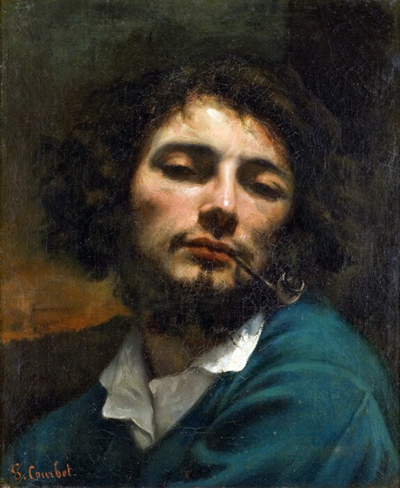 Gustave Courbet, Self-Portrait With Pipe, c. 1848