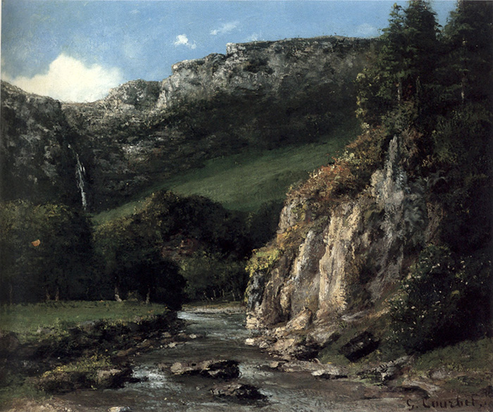 Gustave Courbet, Stream in the Jura Mountains (The Torrent), 1872