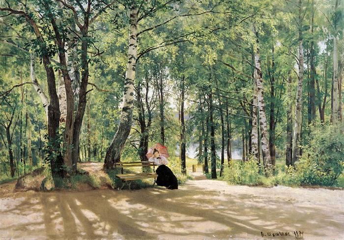 Ivan Shishkin, At the Summer Cottage, 1894