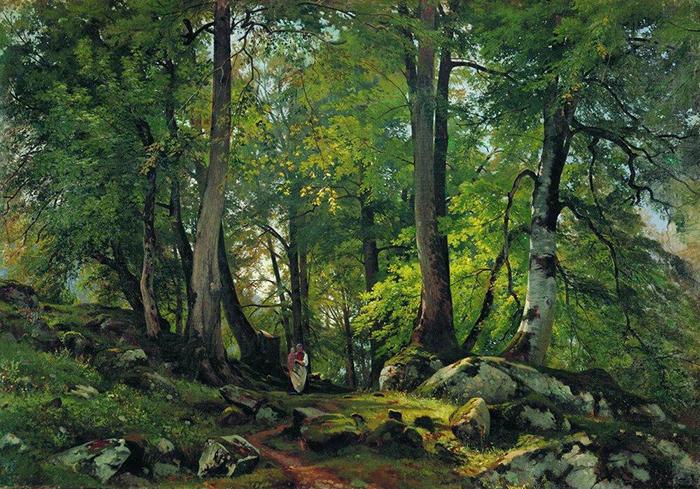 Ivan Shishkin, Beach Forest In Switzerland, 1863