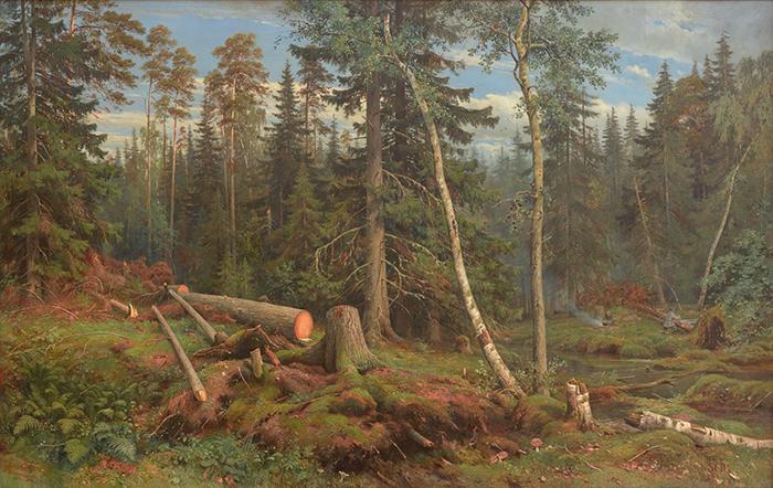 Ivan Shishkin, Lumbering