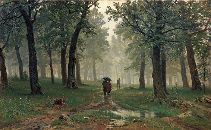 Ivan Shishkin, Rain in an Oak Forest
