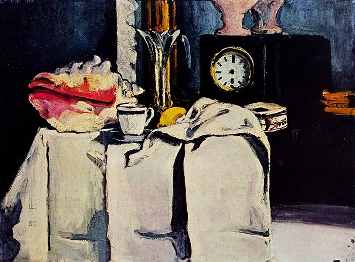 Paul Cézanne, The Black Marble Clock, c.1869