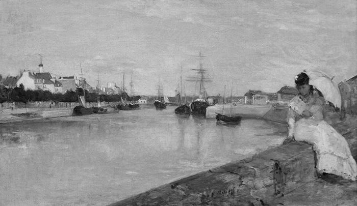 greyscaled_Berthe Morisot, The Harbor at Lorient, 1869 700W
