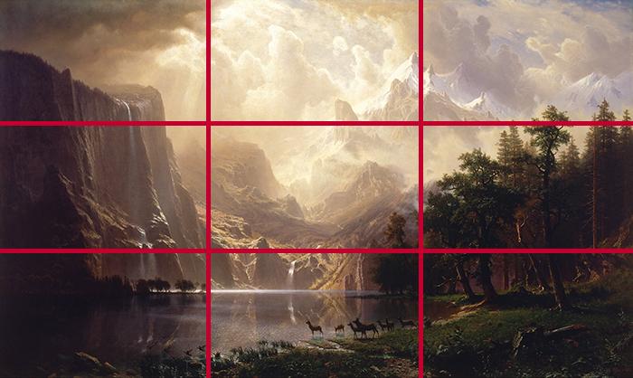 gridlines_Albert Bierstadt, Among the Sierra Nevada, California, 1868 700W