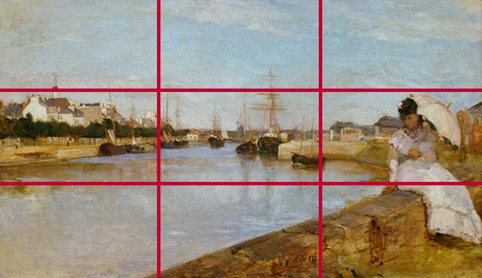 gridlines_Berthe Morisot, The Harbor at Lorient, 1869 700W
