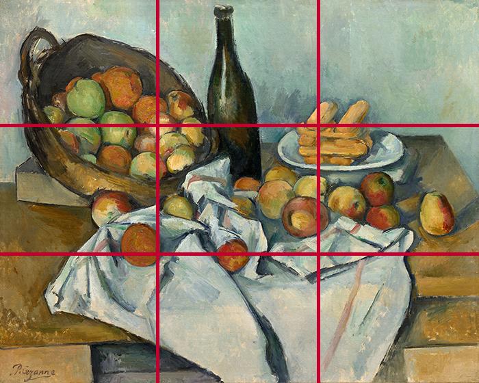 gridlines_Paul Cézanne, The Basket of Apples, c. 1893 700W