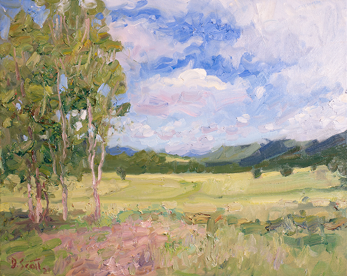 Dan Scott, Maryvale, Sunny Landscape, 2021