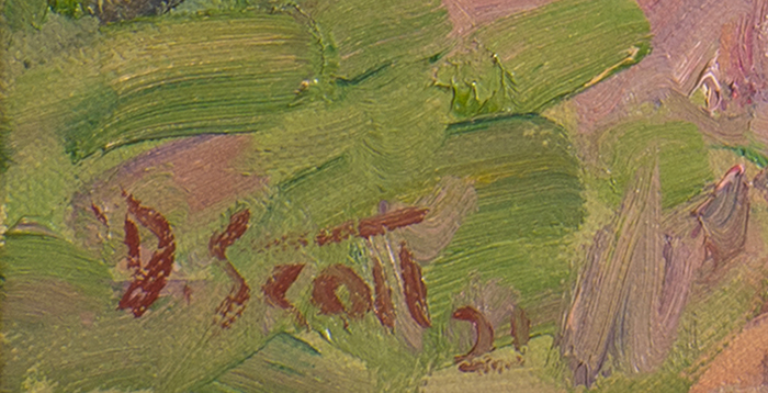 Dan Scott, Maryvale, Sunny Landscape, 2021 Signature