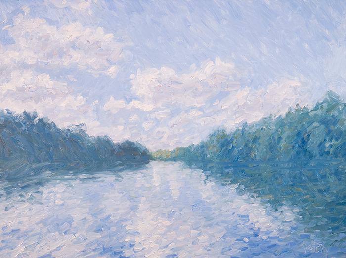 Dan Scott, Tingalpa Creek, High Key, 2021