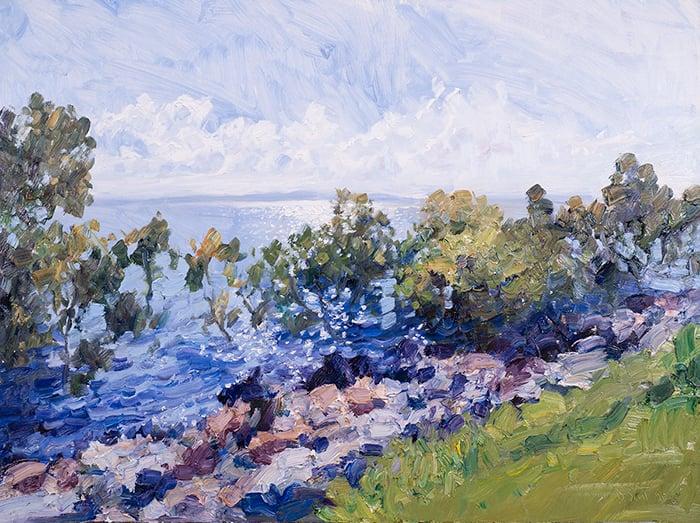 Dan Scott, Wellington Point, Shimmering Light, 2021