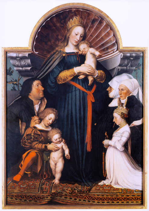 Hans Holbein the Younger, Darmstadt Madonna. c.1526