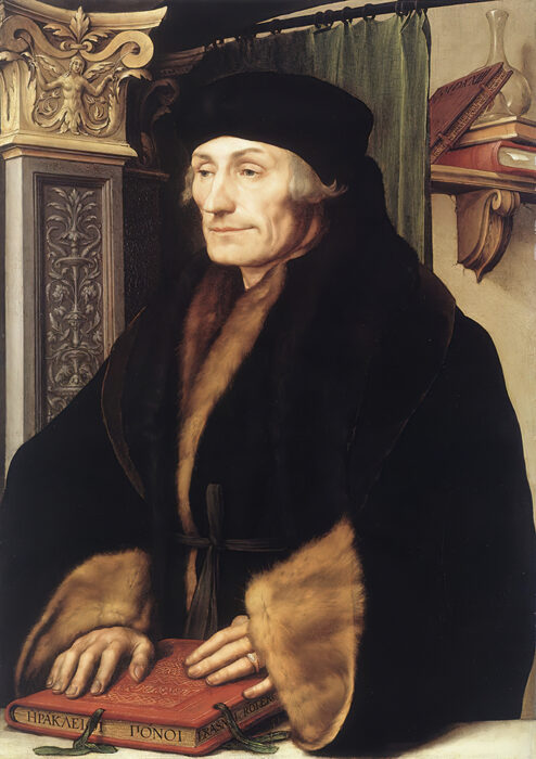 Hans Holbein the Younger, Portrait of Erasmus, 1523