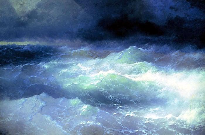 Ivan Aivazovsky, Among the Waves, 1898