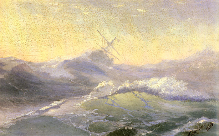 Ivan Aivazovsky, Bracing the Waves