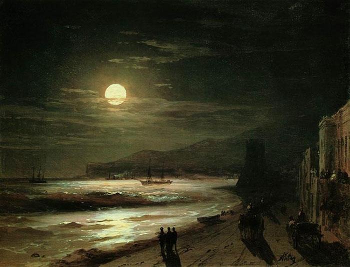 Ivan Aivazovsky, Moon Night, 1885