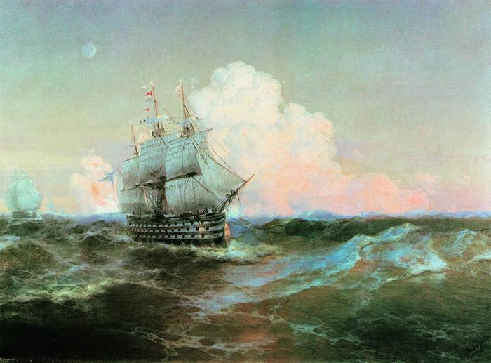 Ivan Aivazovsky, Ship Twelve Apostles, 1897