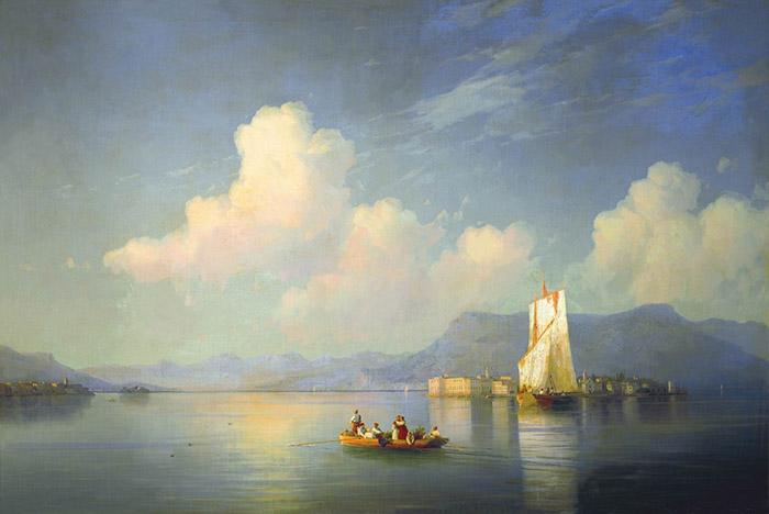 Ivan Aivazovsky, The Italian Landscape. The Evening, 1858