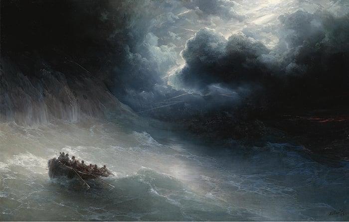 Ivan Aivazovsky, The Wrath of the Seas, 1886
