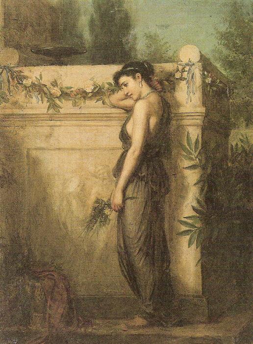 John William Waterhouse, Gone But Not Forgotten, 1873