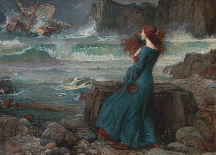 John William Waterhouse, Miranda, The Tempest 1916