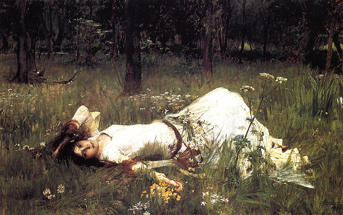 John William Waterhouse, Ophelia, 1889