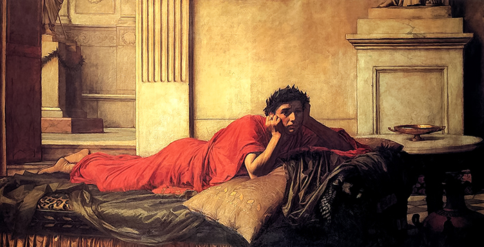 John William Waterhouse, The Remorse of Nero After the Murder of His Mother, 1878