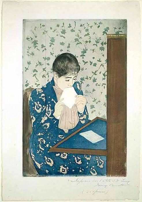 Mary Cassatt, The Letter, 1890-1891